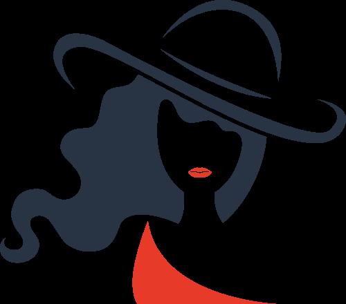 女人形象矢量图标志素材矢量logo