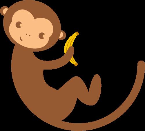 猴子香蕉矢量图logo素材矢量logo