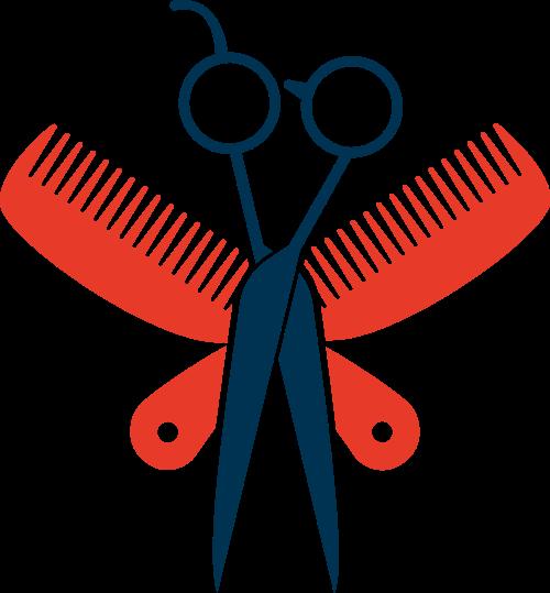 剪刀梳子矢量图logo素材矢量logo