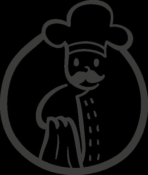 厨师矢量图标志是素材矢量logo