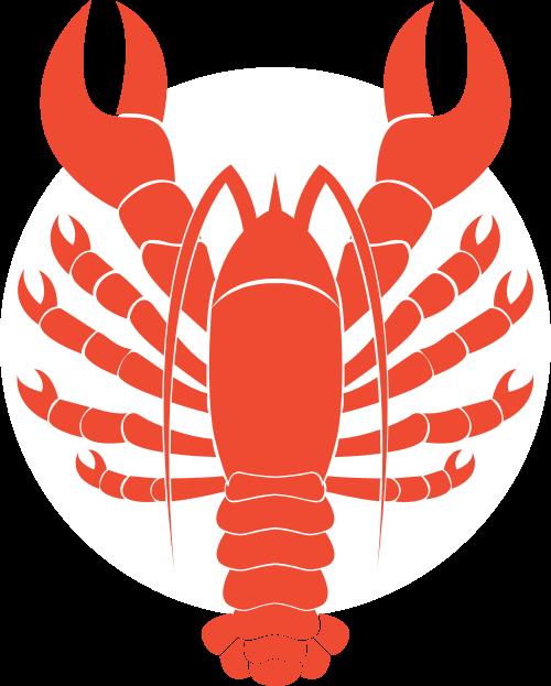 大龙虾海鲜矢量图标志素材