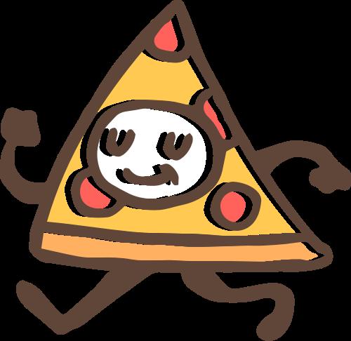 披萨小人矢量图标志素材矢量logo