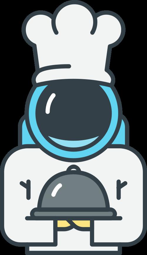 宇航员厨师矢量图logo素材