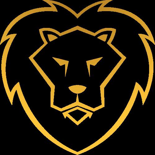 金色线条狮子矢量图logo素材矢量logo