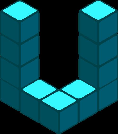 立方体字母U矢量图标志素材矢量logo