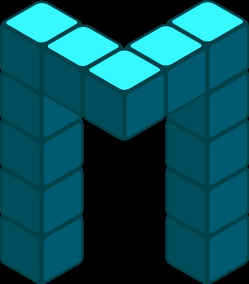 立方体字母M矢量图logo素材矢量logo