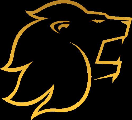 金色线条狮子头矢量图标志素材矢量logo