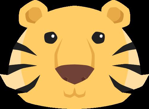 老虎矢量图标志素材矢量logo