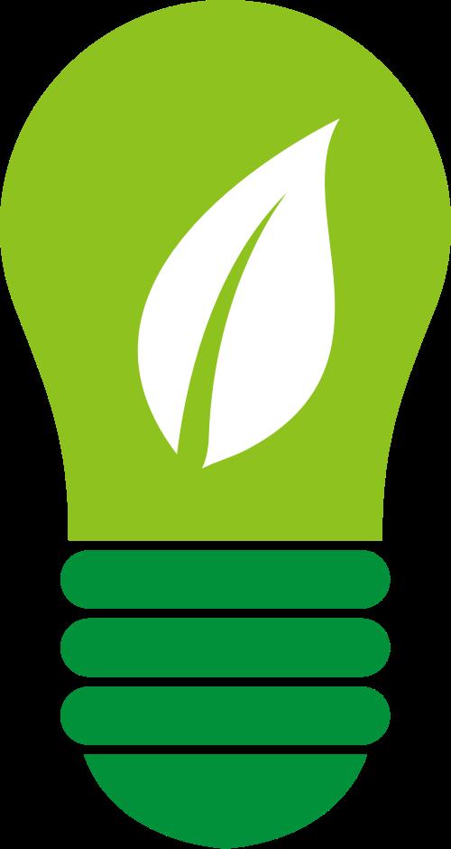 绿色灯泡矢量图标志素材矢量logo