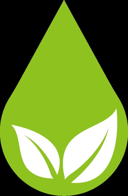 环保水滴矢量图标志素材矢量logo
