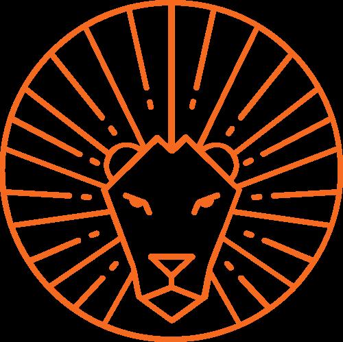 线条狮子矢量图logo素材
