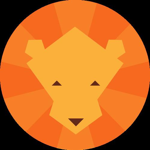 圆形狮子矢量图标志素材