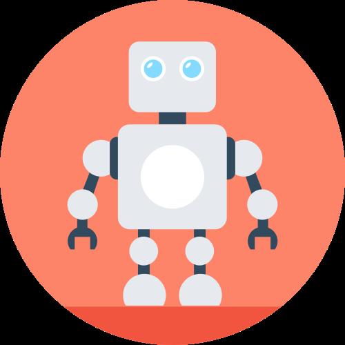 卡通机器人logo