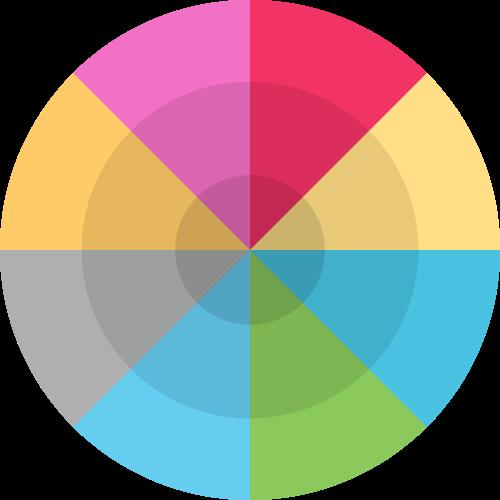 彩色目标靶心矢量图形矢量logo