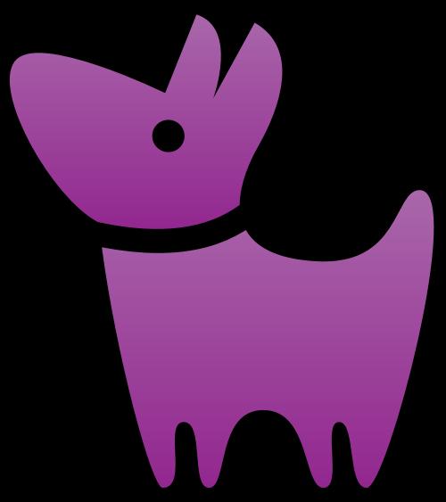 宠物狗矢量图标矢量logo