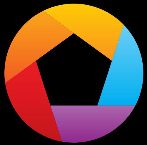 彩色拍照镜头矢量logo元素矢量logo