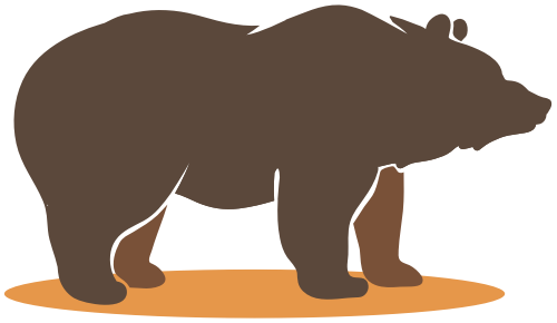 棕熊动物矢量logo素材矢量logo