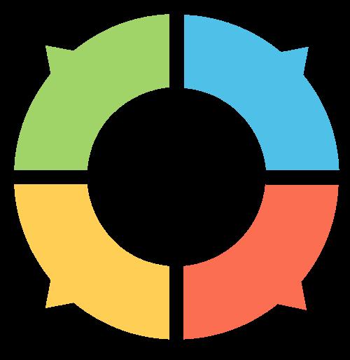 圆形抽象团队合作矢量logo矢量logo