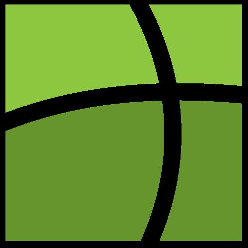 绿色抽象窗户图标logo矢量logo