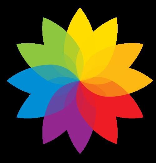 彩色花瓣矢量logo图标