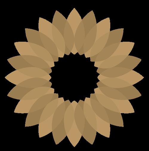 咖啡色圆形花瓣矢量logo图标矢量logo
