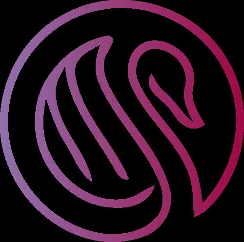 圆形线条天鹅矢量图案素材矢量logo