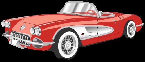 红色老爷车矢量图标矢量logo