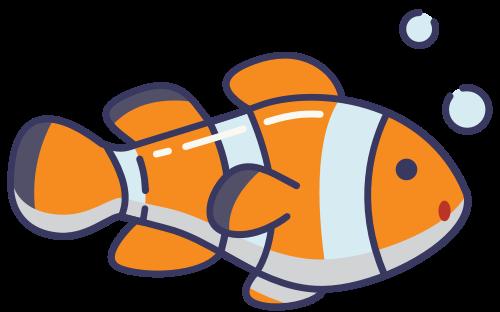 橙色小丑鱼矢量logo图标矢量logo
