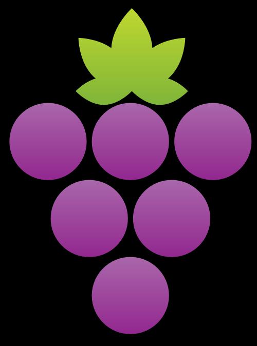 紫色葡萄矢量图标矢量logo