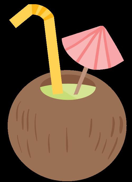 海滩椰子鸡尾酒饮料logo图标矢量logo