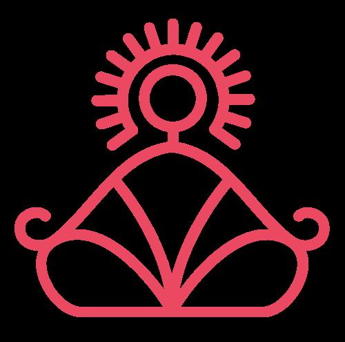 粉色瑜伽打坐矢量图标矢量logo