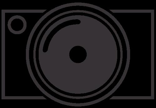 简单黑白照相机矢量logo矢量logo