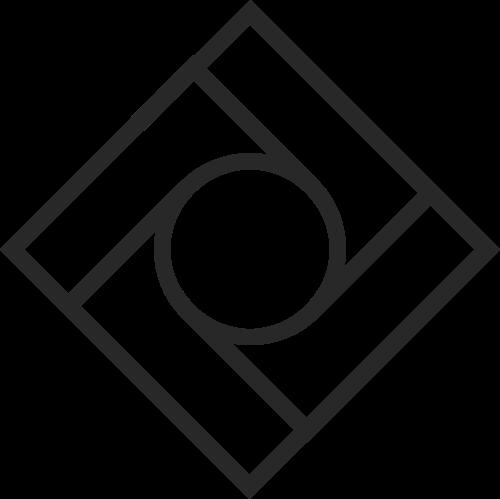 极简方形几何图形logo
