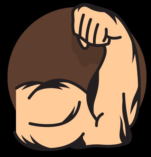 健身手臂肌肉矢量图标矢量logo