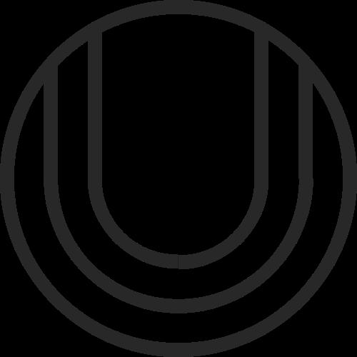 圆形字母U矢量图标