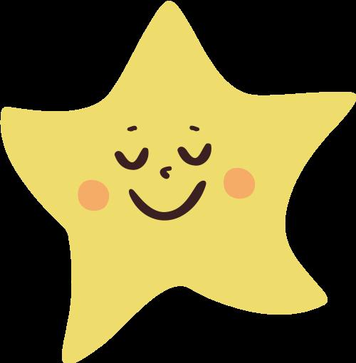 儿童卡通星星矢量图标矢量logo