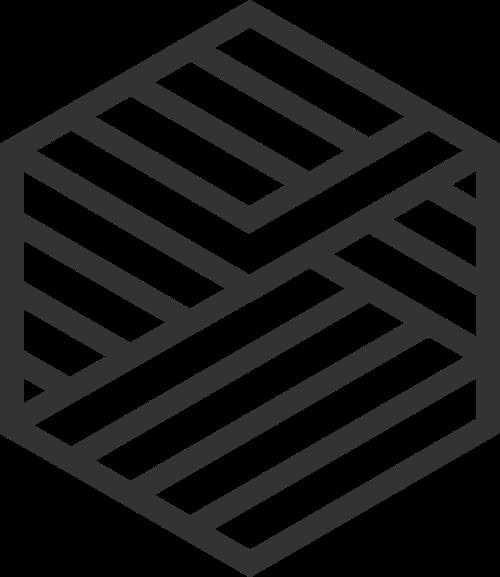 极简黑色六边形矢量logo