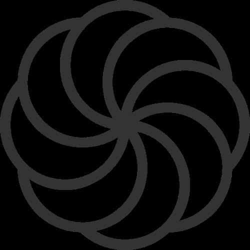 单色线条花瓣logo素材矢量logo
