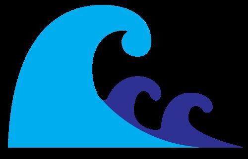 蓝色海浪矢量图标矢量logo