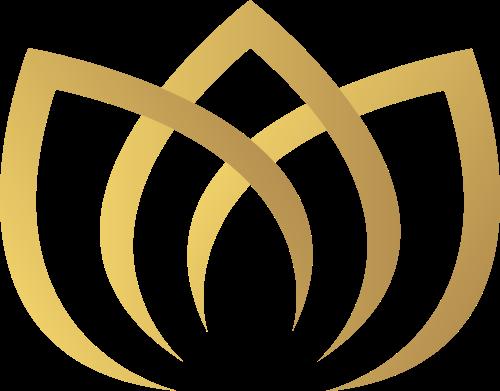 金色莲花矢量图标矢量logo
