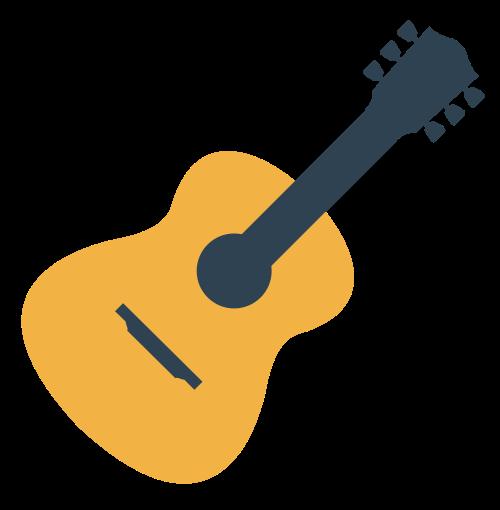 音乐相关吉他矢量图标矢量logo