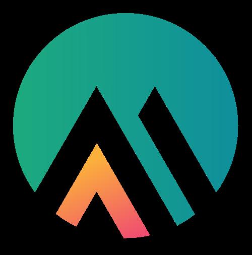 圆形山峰日出矢量logo素材矢量logo