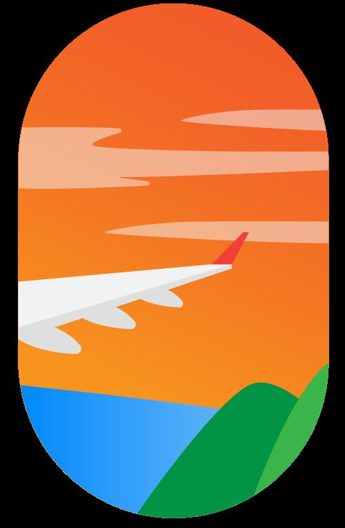航空旅行矢量图标矢量logo