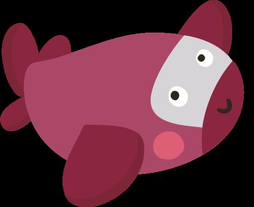 儿童卡通飞机矢量logo