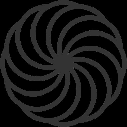 单色线条花朵图案标志矢量logo
