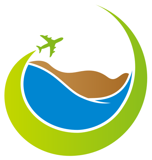 绿色旅行度假矢量图标矢量logo