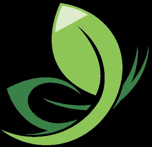 绿色蝴蝶树叶logo图标素材矢量logo