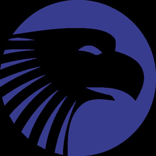 圆形蓝色老鹰矢量logo矢量logo