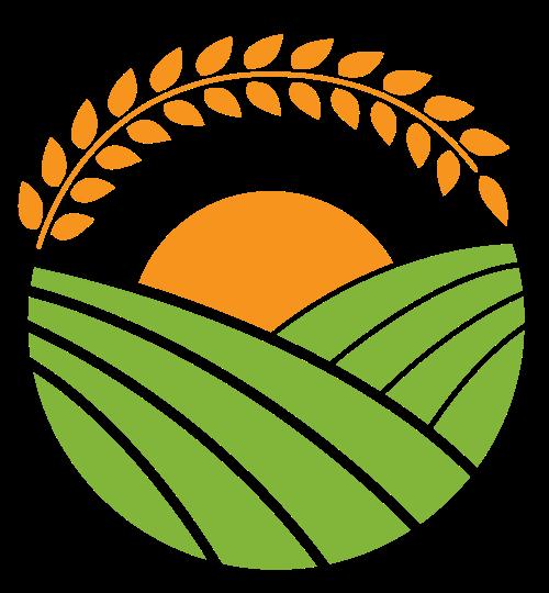 绿色田园麦穗矢量图标素材矢量logo