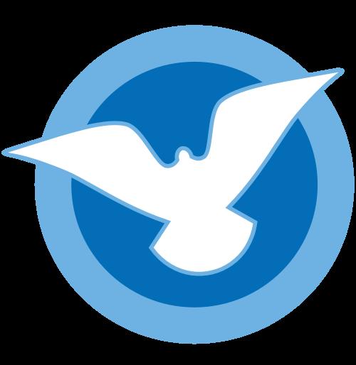 蓝色和平鸽矢量图标矢量logo
